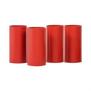 Ens. de 4 tubes pour Rolla Bolla, 20 cm, rouge
