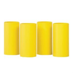 Ens. de 4 tubes pour Rolla Bolla, 20 cm, jaune