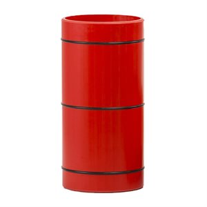 Rouleau 12,5 cm, bandes en caoutchouc, rouge