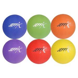 Ens. de 6 ballons de jeu 4 épaisseurs