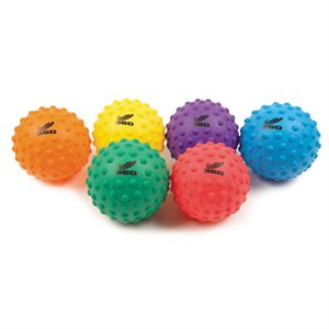 "6 ballons bosselés en PVC souple, 8"""