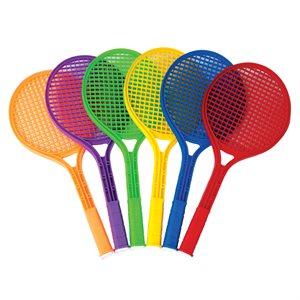 6 raquettes de tennis en plastique