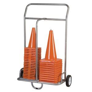 Chariot double pour planches à roulettes et cônes