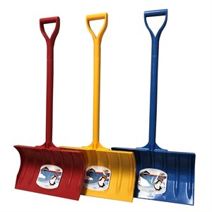 Large plastic snow shovel