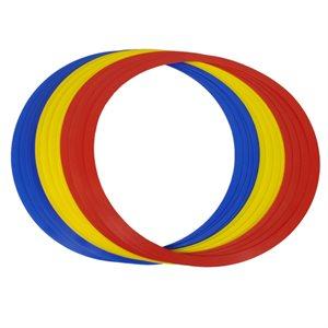 Ens. de 12 anneaux de vitesse en plastique