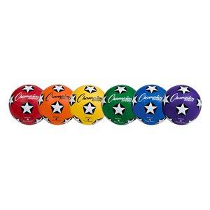 6 ballons de soccer en caoutchouc, #4