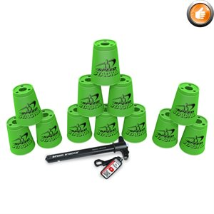 Ens. de 12 gobelets Speed Stacks, verts