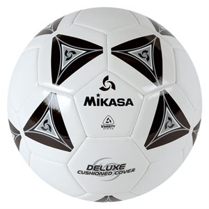 Ballon de soccer matelassé noir