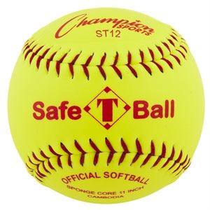 Balle de softball sécuritaire