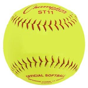 12 balles de softball sécuritaires