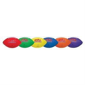 6 ballons de football en caoutchouc texturé