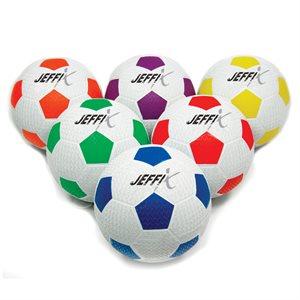6 ballons de soccer caoutchouc