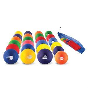 Ensemble de 24 ballons gonflables en caoutchouc doux