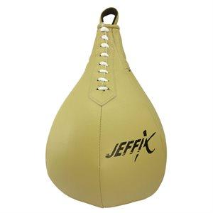 Ballon-poire en cuir composite, beige