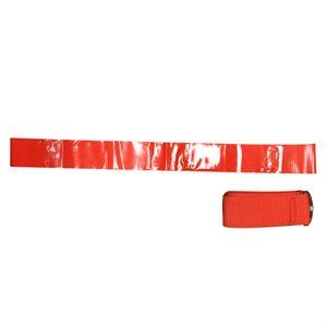 Ens. de 12 ceintures-fanions en nylon rouges