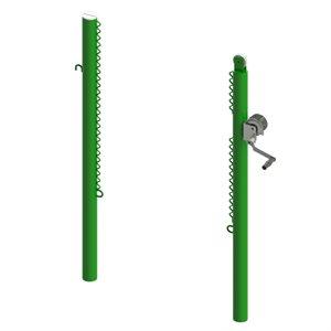 Poteaux de tennis extérieur, sans ancrages