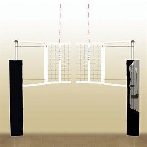 Système complet de volley, aluminium, 3'' écarlate