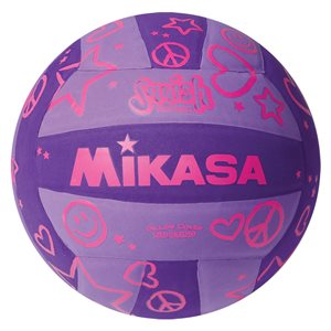 Ballon de volleyball de plage Squish®, mauve