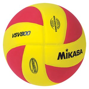 Ballon de volleyball de plage Squish®, jaune / rouge
